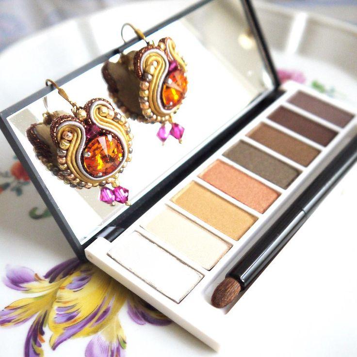 Daily wear: Soutache Earrings (Perlotte Schmuck) and favorite eye shadow palette (Lily Lolo)