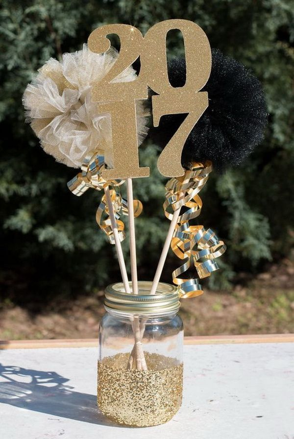 2017 Graduation Party Mason Jar Table Centerpiece Also Works For 2018