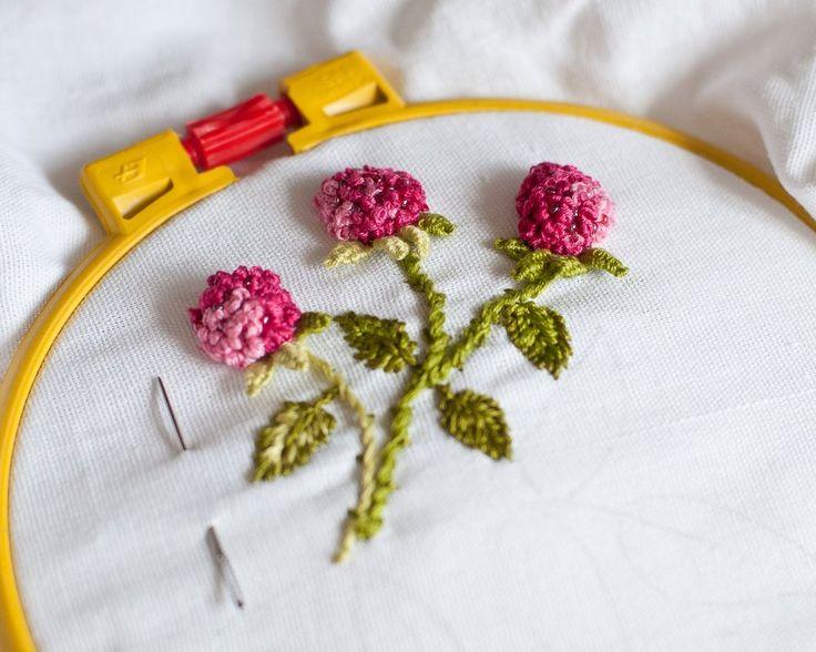 Французская объемная вышивка  #embroidery