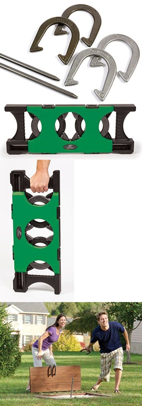 Horseshoes 79790: Eastpoint Sports Horseshoe Set With Deluxe Case BUY IT NOW ONLY: $54.97