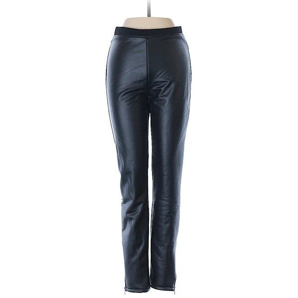 Forever 21 Faux Leather Pants ($12) ❤ liked on Polyvore featuring pants, black, faux leather trousers, faux-leather pants, leather look pants, vegan leather pants and fake leather pants