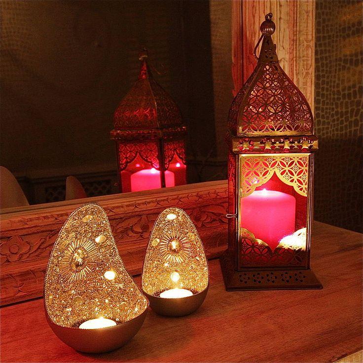 zenza beaded egg tealight lantern by london garden trading | notonthehighstreet.com