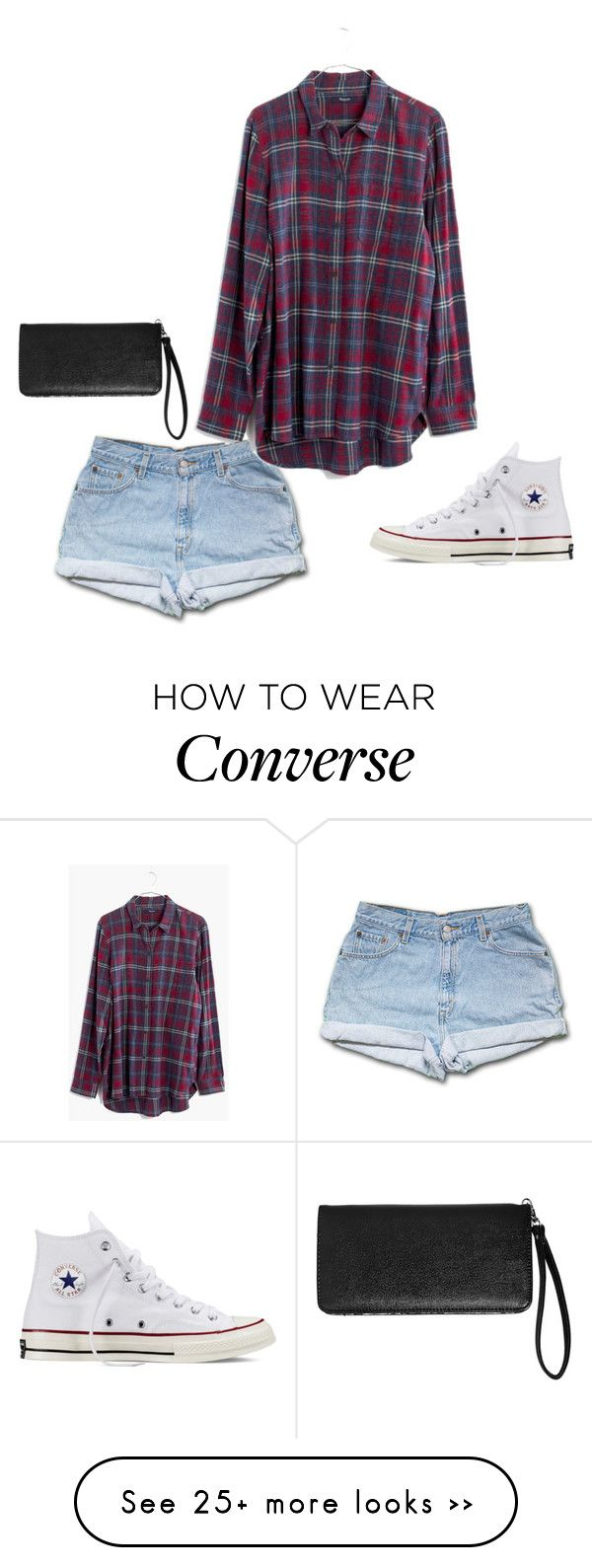 """""""Untitled #90"""" by monicahong on Polyvore featuring moda, Madewell, Converse e Avenue"""