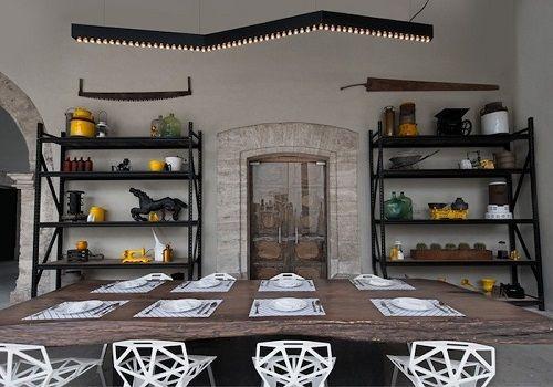 Comedor restaurante Montero en Salinas, México • Montero restaurant in Mexico, via Anagrama