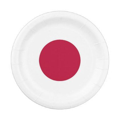Patriotic paper plate with flag of Japan - home gifts ideas decor special unique custom individual customized individualized