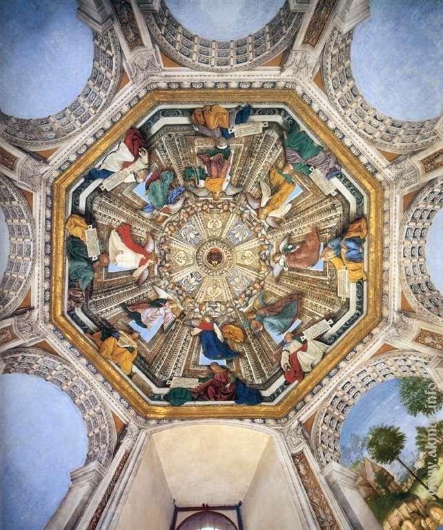 Melozzo_da_Forl. Украшения купола. После 1484. Ризница Сан-Марко базилики Санта делла Каса. Лорето. Италия