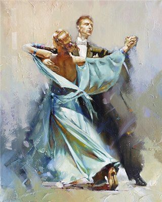 Pastel Watercolor #Ballroom Dancing