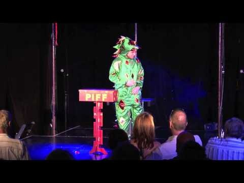 Piff the Magic Dragon aka John van der Put.  He stole the show on Penn & Teller and is now hard to get as he is so much in demand for TV and theatre.