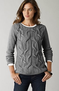 Interesting cable pattern - no pattern, just for inspiration ~ Actually I feel that this is a more masculine pattern here and would love to work it into a pattern for one of our guys AJ