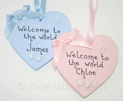 personalised heart gift tag plaque sign baby keepsake | eBay