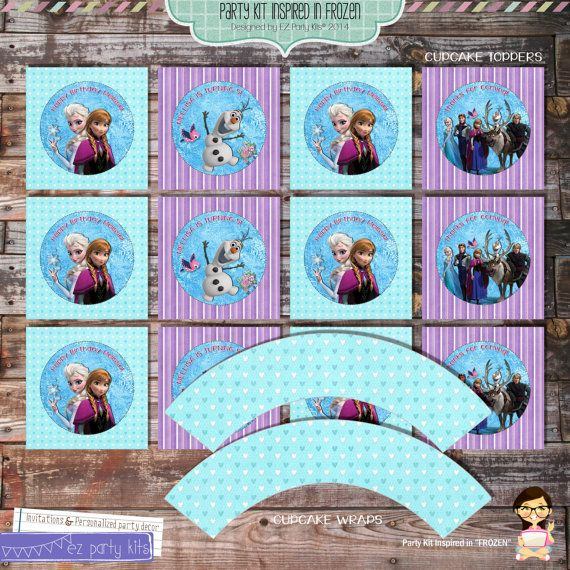 FROZEN Party Decoration  Frozen Party  Kit by EZPARTYKITS on Etsy, $20.00