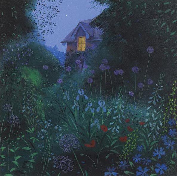 Nicholas Hely Hutchinson (b.1955) — Garden at Night (593x589)