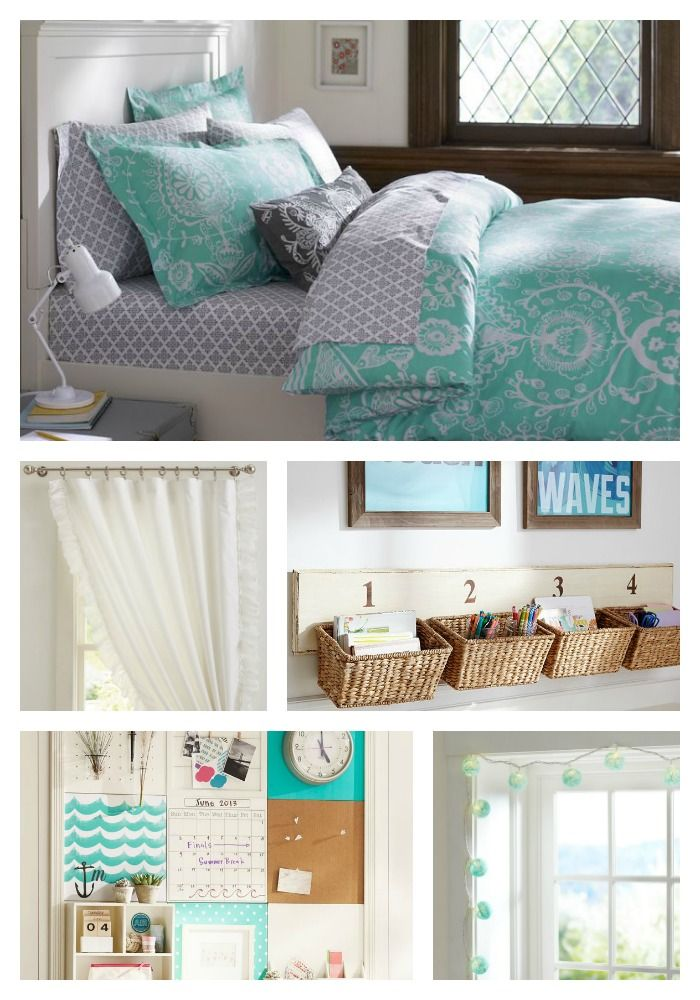 Dorm Room Ideas for the fall. Pass it along to all your college girl daughters, nieces, and friends! #Dorm #Decor