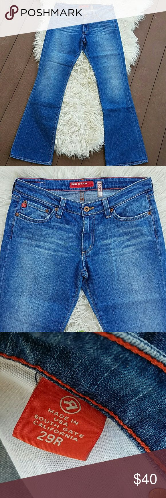 """VINTAGE BIG STAR Bootcut Jeans VINTAGE BIG STAR Bootcut Jeans. Great condition!  Size 29 R , Inseam 32.5"""", Waist flat 16"""", Rise 8"""" Big Star Jeans Boot Cut"""