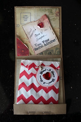Valentine Gift- Match Book Opened, perfect for a gift card: Gifts Cards, Valentines Gifts, Gift Cards, Matching Books, Cards Tags, Cards Inspiration, Books Open