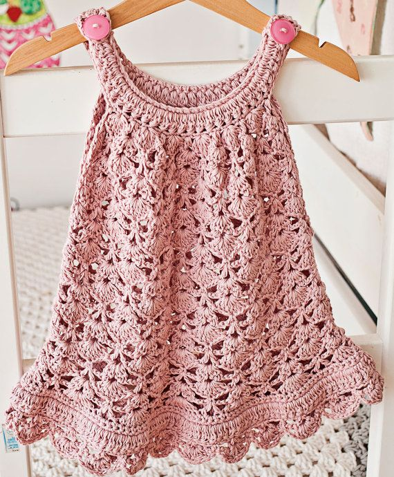 Instant download Dress Crochet PATTERN pdf file by monpetitviolon