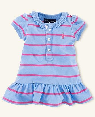 Ralph Lauren Baby Dress, Baby Girls Striped Henley Dress - Kids Baby Girl (0-24 months) - Macy's