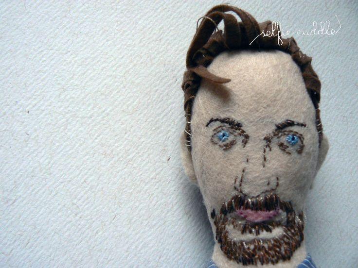 personalised handmade dolls, fabric dolls, family dolls, man, portrait