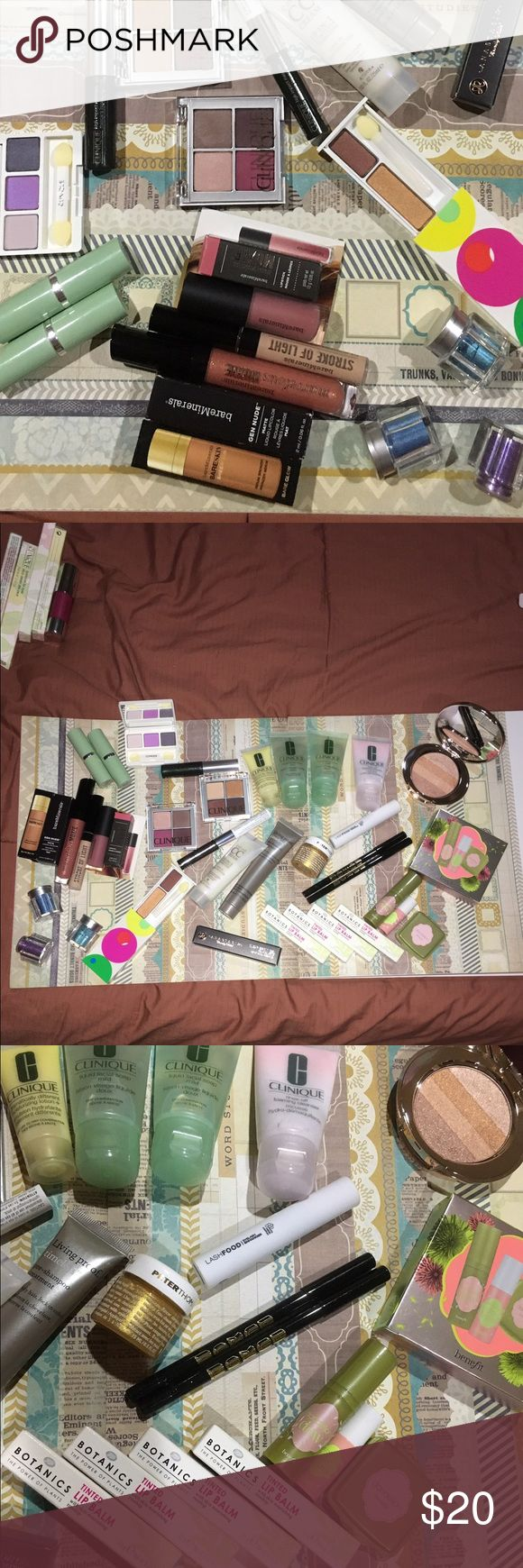 Bare minerals new pick 4 Unopened, never used .... Clinique, bare minerals, buxom, benefit, boots botanics, no 7, smashbox, and more...    pick 4 items for $15  .     I have other makeup auctions so check those too.     The peter Roth gold is 0.5 oz (15ml) bareMinerals Makeup