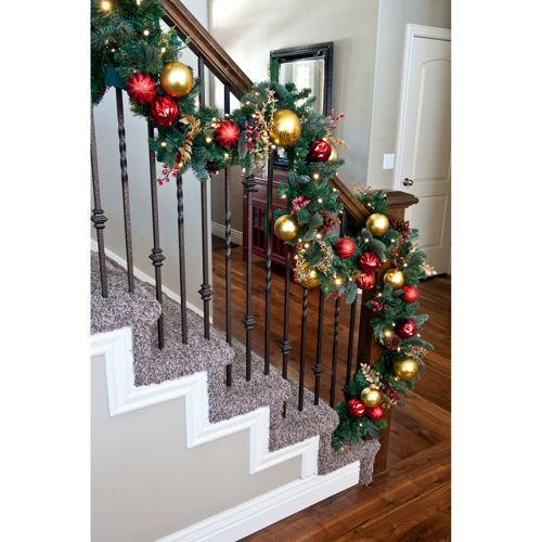 how to get garland to stay on banister