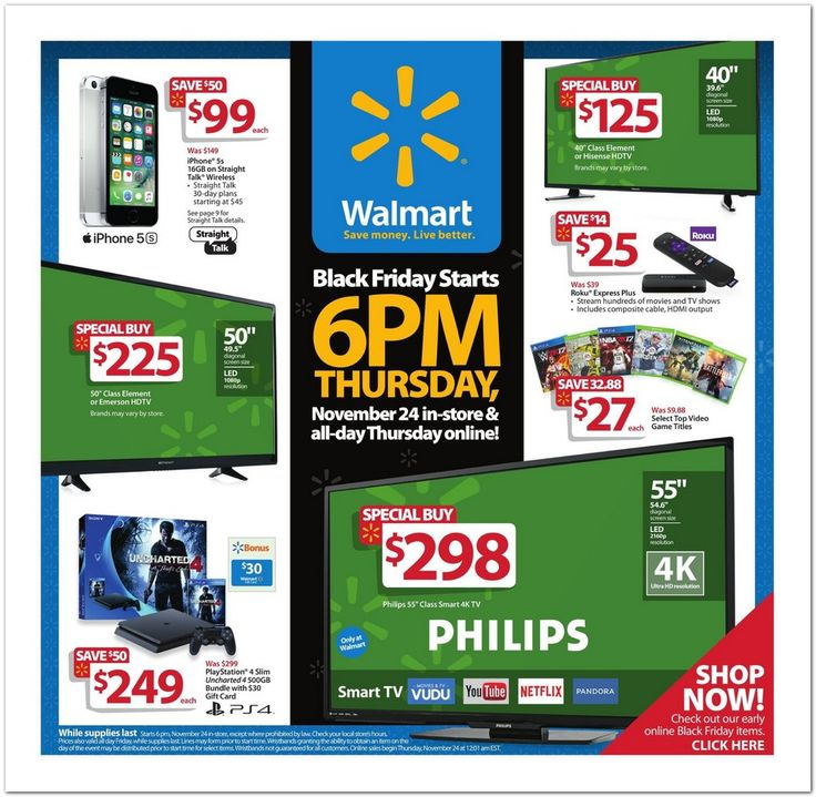 Walmart Black Friday Ad Scan for 2016 Page 1 of 34