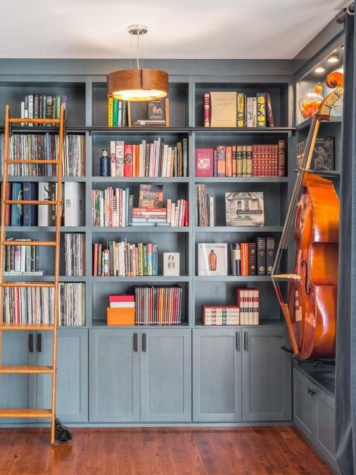 Manage Your Books In Various Ways For More Comfortable Exploring Home Library Home Music Room Decor