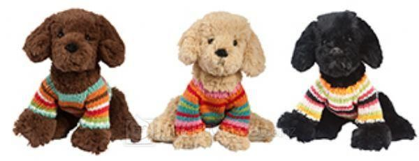 Lily & George Playtime Plush Puppy Toy - Assorted