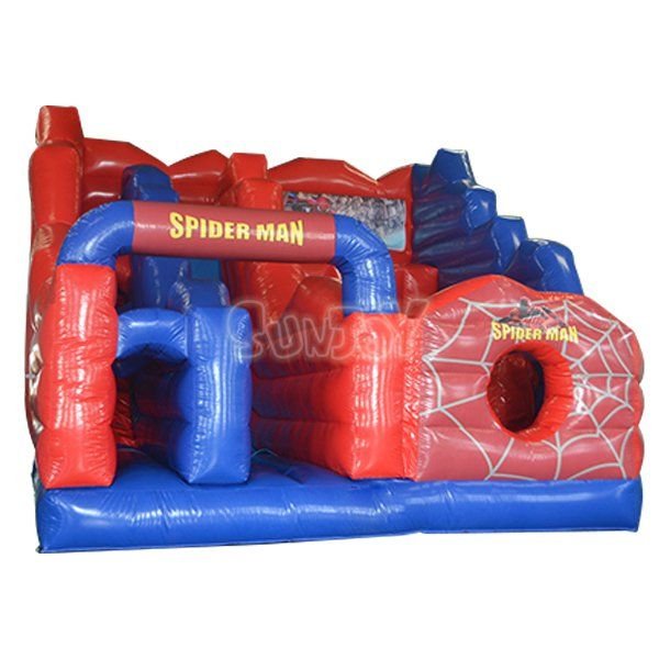 Spider-Man cliff jump inflatable amusement park, spiderman ...