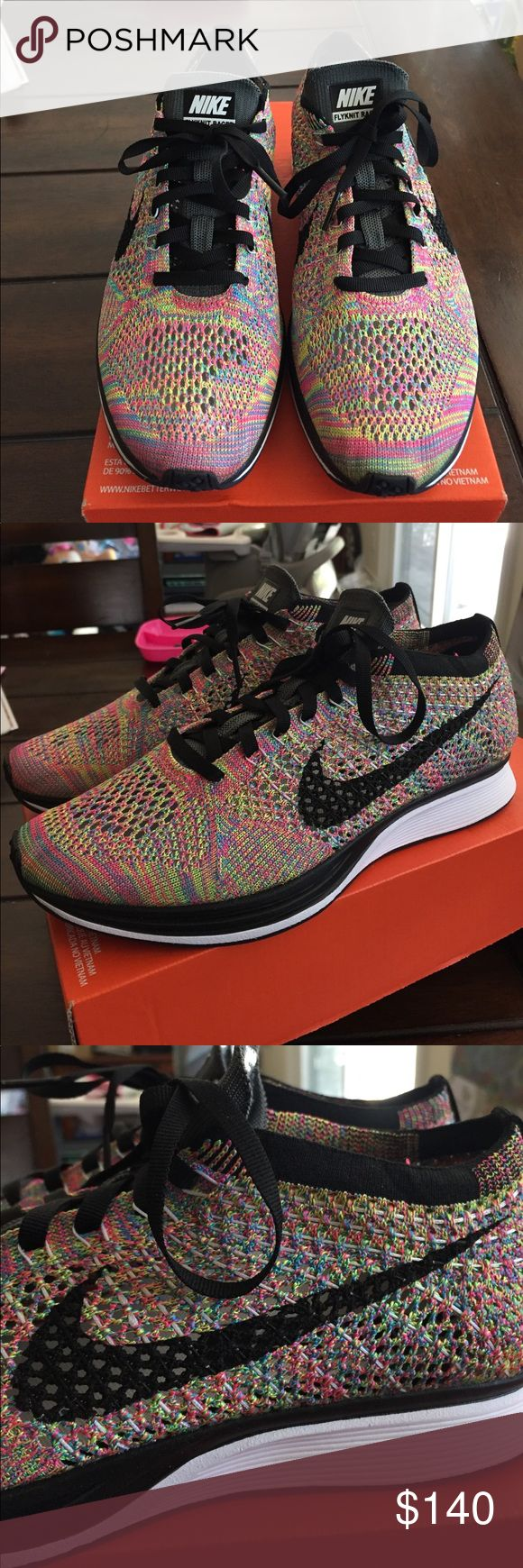 New Nike Multicolor Flyknit Racer! New Nike Flyknit Racer! Size 6.5 Men's 8 in Women's. Comes in a box without the lid with part of the label ripped off.  Released in 2016 with the grey tongue. Nike Shoes Athletic Shoes
