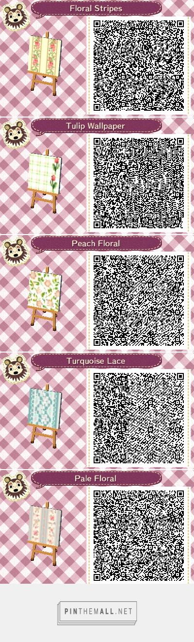 ACNL/ACHHD QR CODE-Wall-Lovely floral elegant wallpaper design