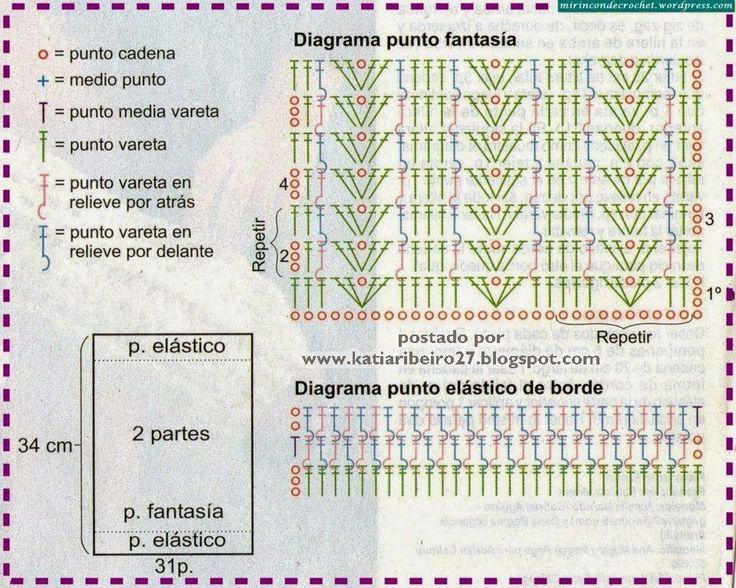 Polainas em crochê com gráficos - Katia Ribeiro Crochê Moda e Decoração Handmade