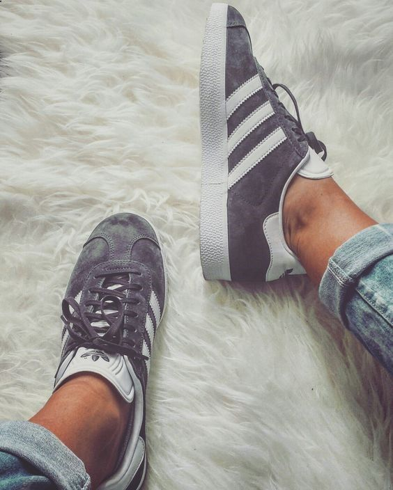 Adidas Gazelle in grey shoes sneakers fashion camden white classic lifestyle instagram trainers shop bestseller womens shoes mens shoes www.scorpionshoes... Clothing, Shoes & Jewelry : Women:adidas women shoes amzn.to/2iQ
