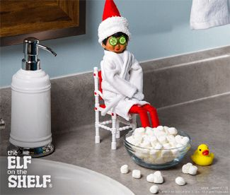 You'll have kids laughing and smiling with these exciting elf on the shelf poses. Place your Christmas elf in hilarious places like the shower and bowling.