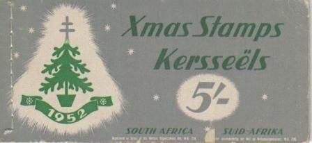 UNION SA 1952 5S CHRISTMAS BOOKLET COMPLETE