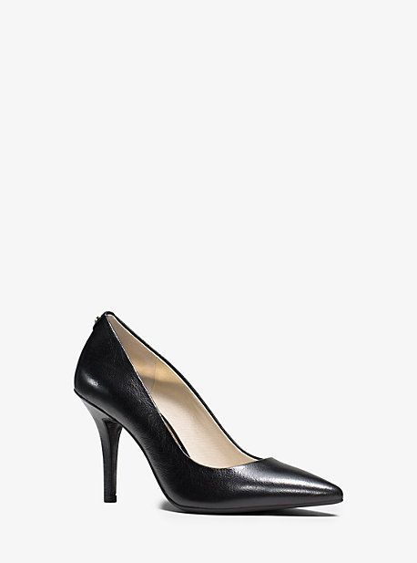 Flex Leather High-Heel Pump
