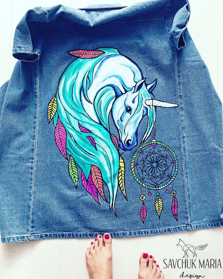 рисунок на джинсовой куртке акриловыми красками кладки осуществляется