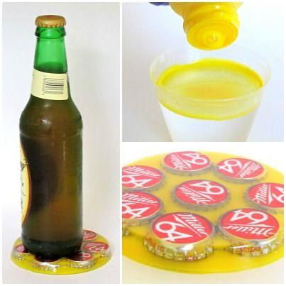 Resin Obsession Blog:  Make a bottle cap resin coaster