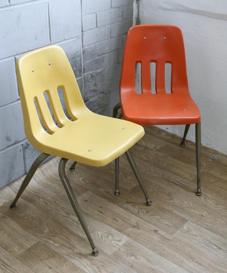 vintage virco school chairs