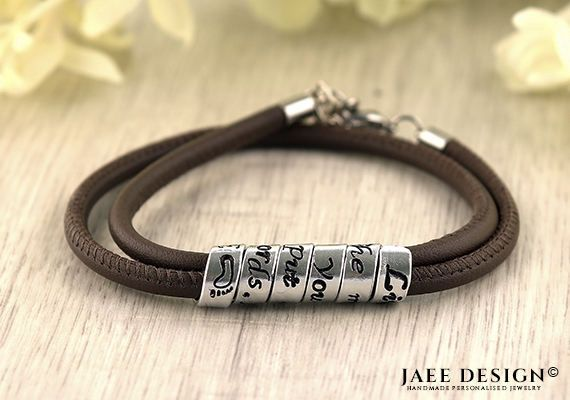 Personalized Bracelet Leather Custom gift jewelry Secret message Mothers day SWAROVSKI jewelry Friendship gift Best friend Engraved Birthday by Jaeedesign on Etsy https://www.etsy.com/listing/522376535/personalized-bracelet-leather-custom