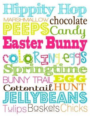 Easter art printable.