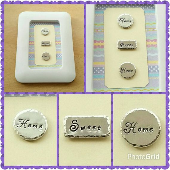 Home Sweet Home  framed keepsake, medium box frame, hand-stamped heart, gifts for mums, gifts for her, new home gifts, mothers day gifts