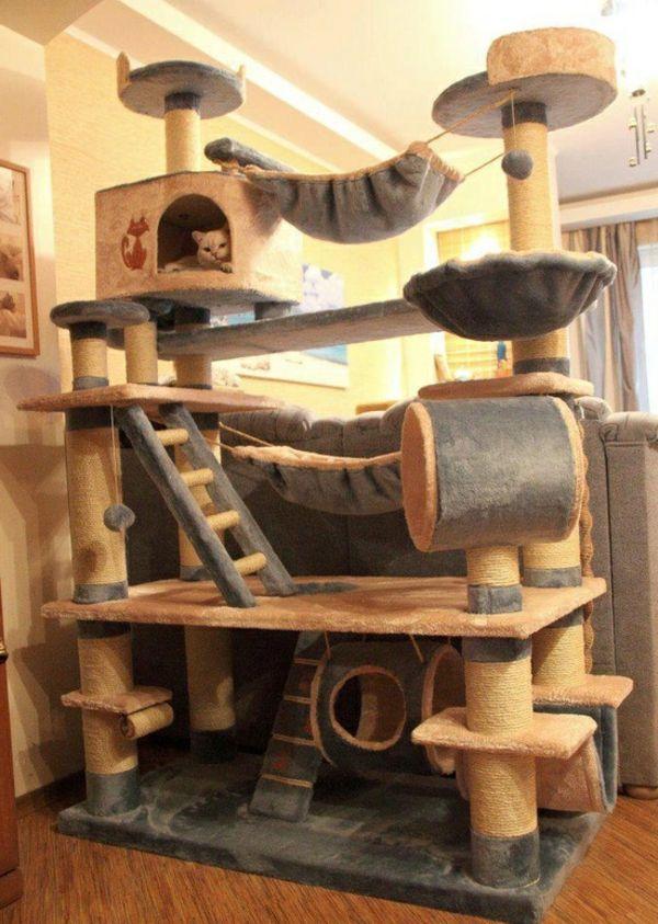 Un Meuble Pour Chat Domicil Jpg 600 843 Fancy Cats Animal Room Cat Room