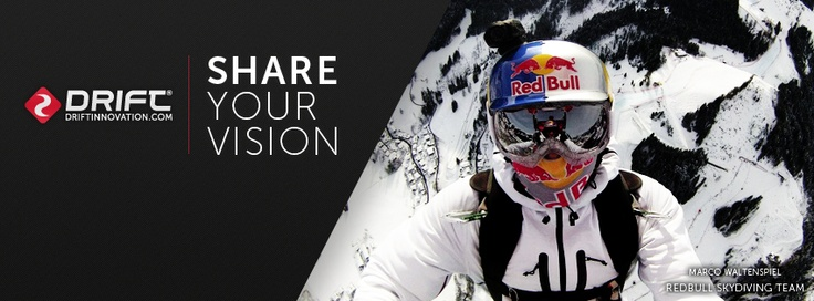 Red Bull Skydive team over Kitzbuehel with the Drift HD Ghost.
