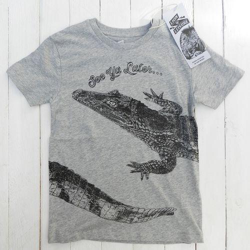 Lion of Leisure ◊ Croc. Tshirt Grey www.cowboybilly.nl
