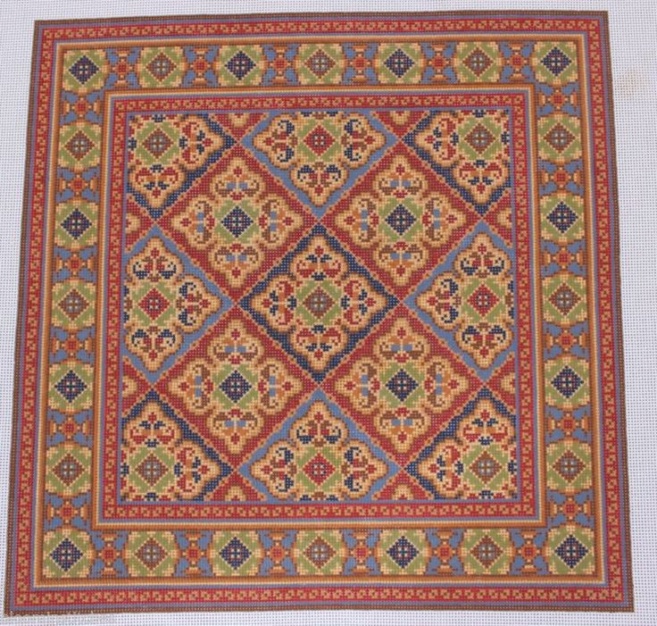 CanvasWorks PO117 Esfahan Hand Painted Needlepoint Canvas