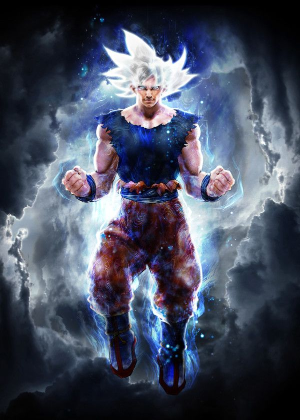 Instinct Ultimate A Collab With Patrick Towers Poster By Barrett Biggers Displate Anime Dragon Ball Super Dragon Ball Super Art Dragon Ball Super Goku