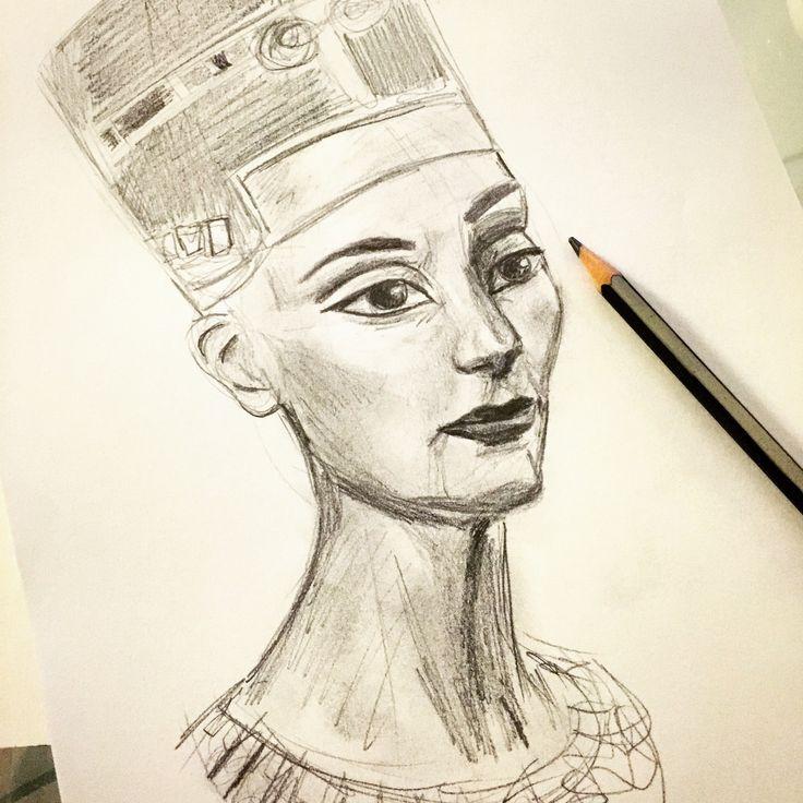 Queen Neferititi sketch by CloudyArts