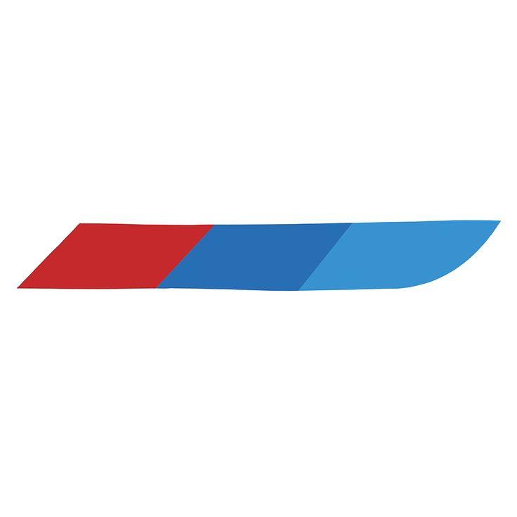 3 colores traseras y calcomanías laterales Coche pegatinas pegatinas modificadas decorativas para BMW Coche estilo