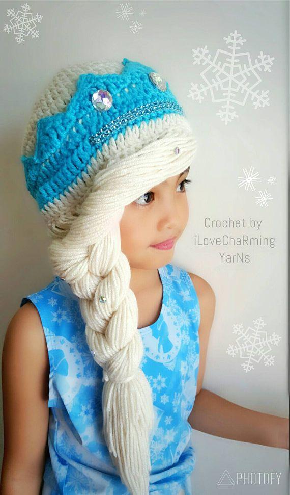 03674ec0757 My handmade elsa frozen crochet hat is cute