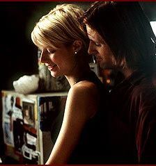 Gwyneth Paltrow & Viggo Mortensen in A Perfect Murder. This stylish film takes place in an eclectic, contemporary Fifth Avenue apartment created by production designer Philip Rosenberg and set decorator Debra Schutt.